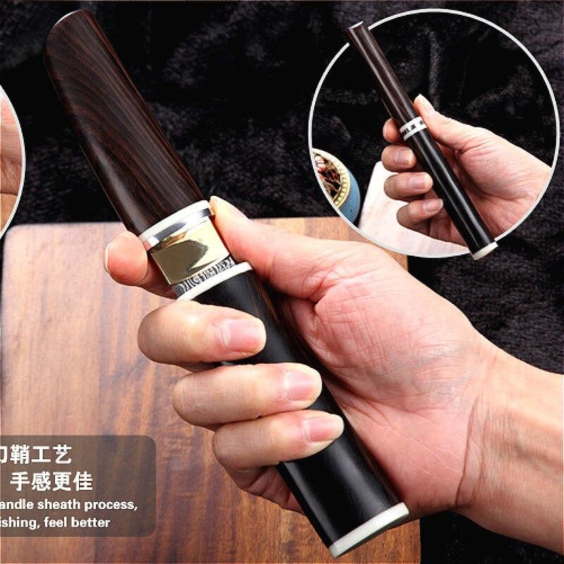 VG10 دمشق الصلب اليابانية مرآة سكين ، 60-62hrc فراغ المعالجة الحرارية شارب التخييم سكين صيد سلسلة (مستوى جمع)