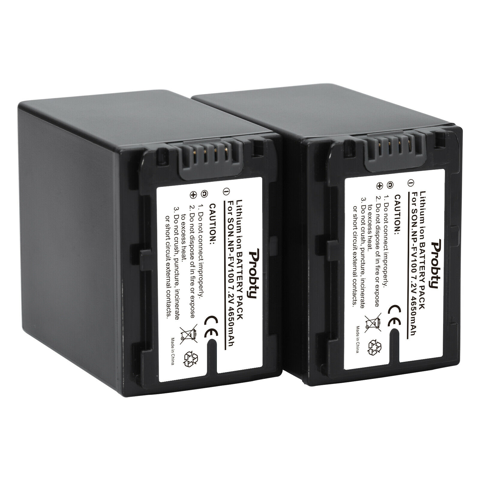 2 piezas NP-FV100 batería para Sony DCR-SR15... SR21... SR68... SR88... SX15... SX21... SX44... SX45... SX63... SX65... SX83... SX85... HDR-CX110... CX115