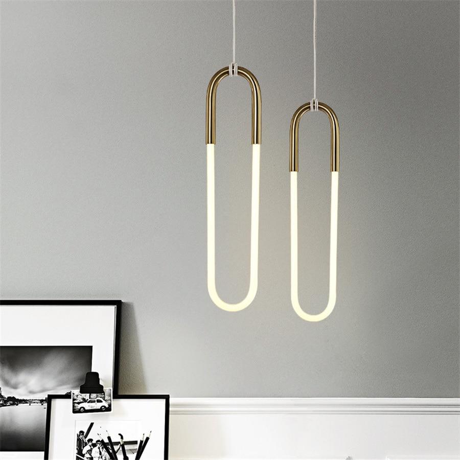 الشمال حلقة قلادة LED ضوء غرفة الطعام المطبخ السرير مصباح معلق الحديثة الإبداعية مطعم متجر جزيرة مقهى قلادة مصباح