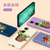 the baby yoda cute disney for huawei p50 p40 p30 p20 5g lite p smart z pro plus 2021 2019 liquid silicone soft phone case