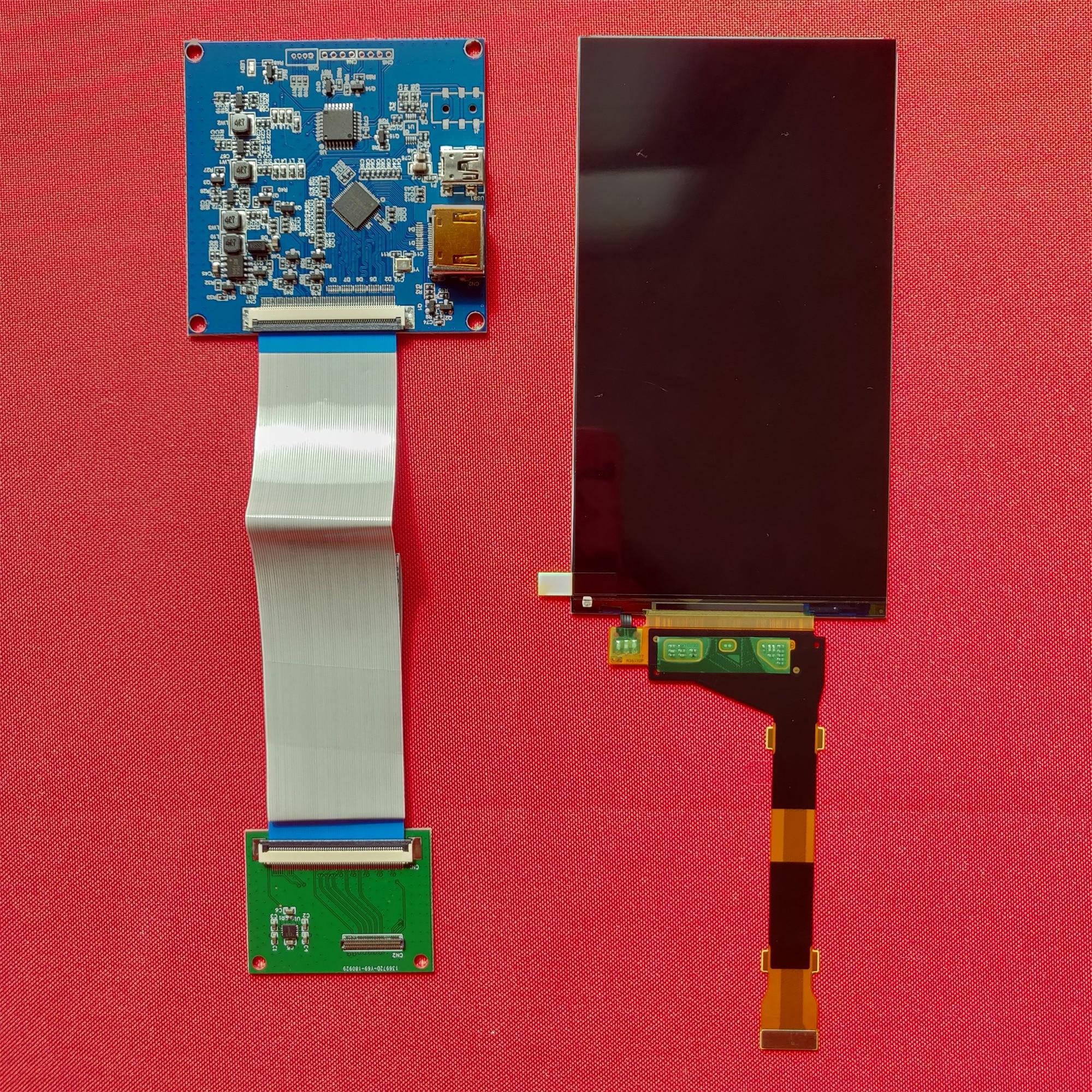 Экран 5,5 дюйма 1440p hdmi дисплей 1440*2560 с hdmi к mipi для DIY SLA 3d принтера raspberry pi 3 pi 4b LS055R1SX03