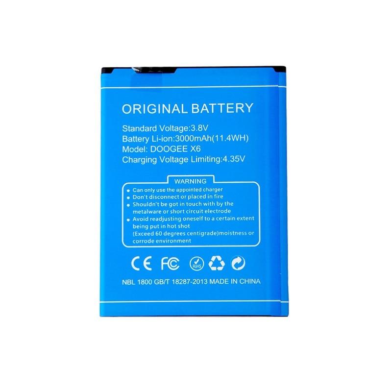For DOOGEE X6 Battery 3000mAh Bateria Accumulator AKKU for DOOGEE X6 Pro
