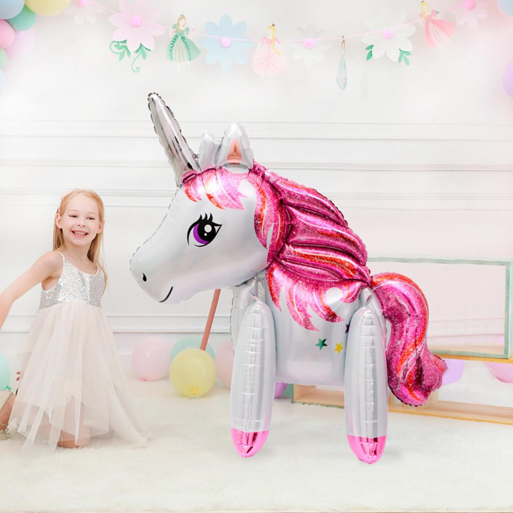 Big Unicorn Balloon Birthday Party Decorations Kids Baby Shower Happy Baloon