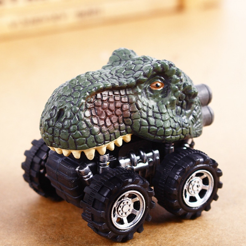 Baby Car Pull Back Car Dino Toy with Big Tire Wheel 3-14 Years Old Boy Girl Creative Gift for Kids Pull Back Dinosaur Model Toys