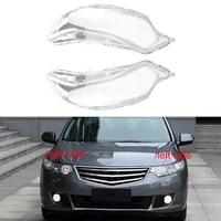 2pcs car lampshade headlight cover transparent head light lamp glass shell mask hardening for honda spirior 2009 2013