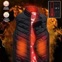 new heated vest jacket fashion men women heated vest intelligent electric heating thermal warm clothes heated hiking hunt