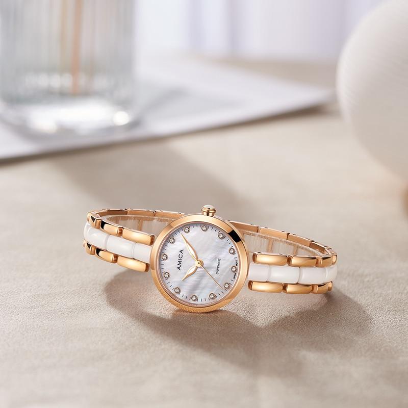 AMICA Gold Watch Women Watches Ladies Steel Women's Bracelet Watches Female Clock Quartz Watch Relogio Feminino enlarge