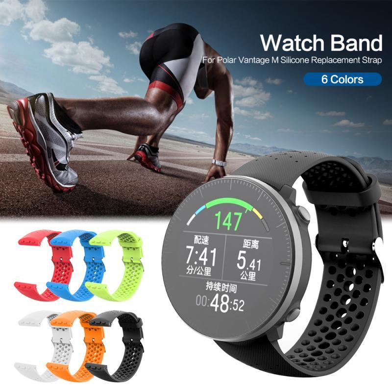 Compatible con bandas polares Vantage M, accesorio de silicona suave, deporte, transpirable, Agujero de respiración, correas a prueba de agua