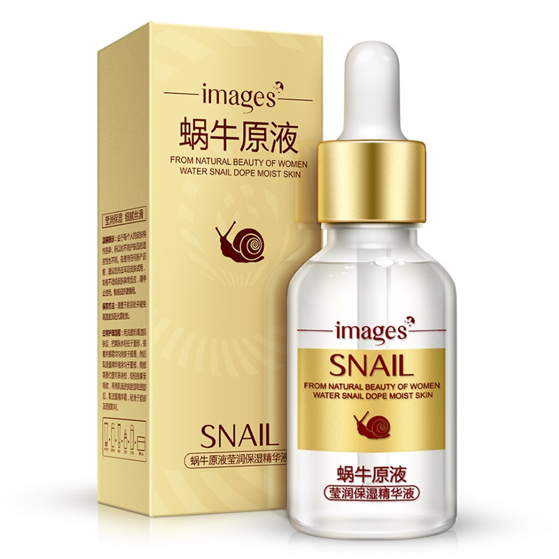 images Authentic Snail Liquid Anti-aging Firming Skin Face Cream Whitening Moisturizing Shrink Pores Care