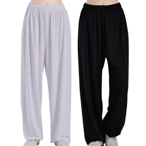 Tai Chi pants women's milk silk spring and autumn loose men's exercise pants martial arts pants yoga plus size bloomers