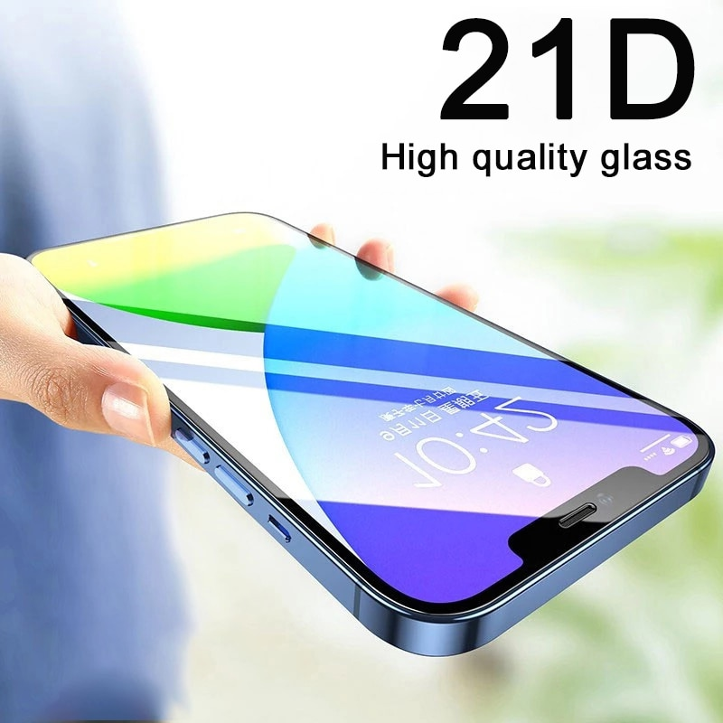 128Gb Full Cover Glass For iPhone 11 12 Pro XS Max X R XR 12 Mini Screen Protector iPhone 8 7 6 6S Plus Tempered Glass Film Case