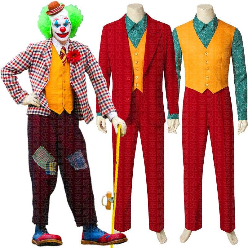 2019 película Joker Joaquin Phoenix Arthur Fleck Cosplay traje trajes de Halloween hombres traje de payaso