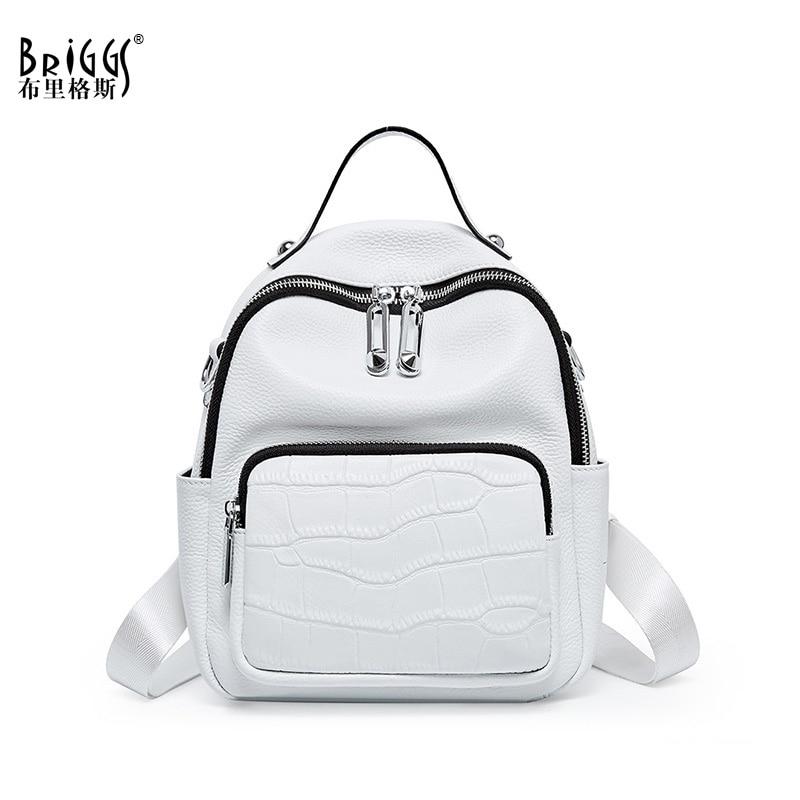 Novo 2020 mochilas de couro genuíno das mulheres mochila para adolescentes meninas moda mochila de viagem sacos de ombro