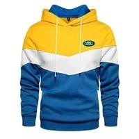2021 land rover autumn winter mens top thick hoodie jacket printed punk clothing fashion casual zipper sweatshirt jacket runner