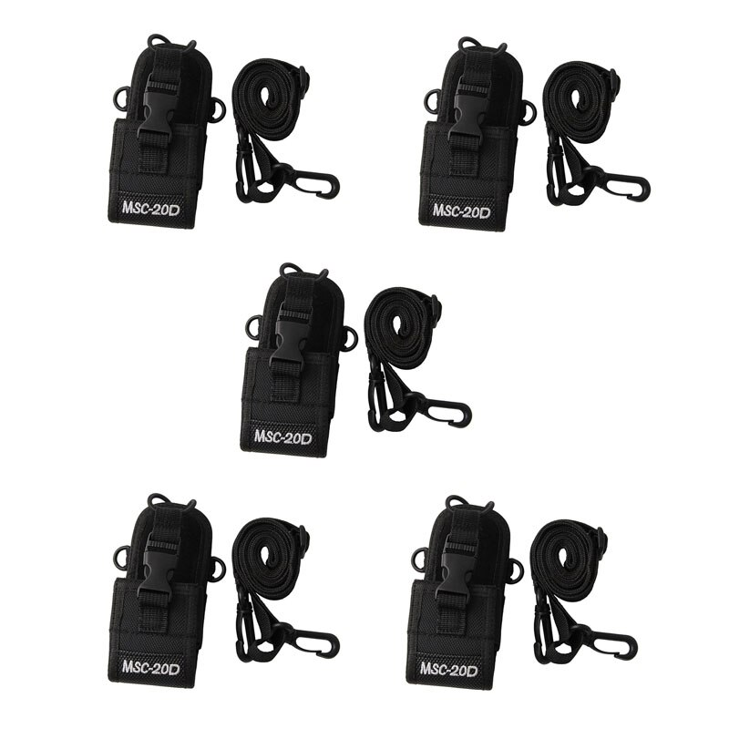 Lote PCS MSC-20D 5 Multi-Função Universal Nylon Holster Bag bolsa Carry Case para BaoFeng UV-5R BF-888S Motorola Walkie talkie