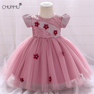 Baby Girls Baptism Dress Lace Embroidery Newborn Princess Birthday Custumes Toddler Christening Clothes Kids Dresses for Girls
