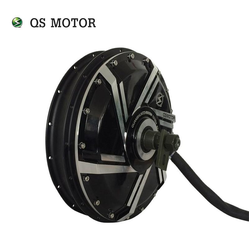 QS موتور 120KPH عالية السرعة دراجة كهربائية BLDC محور المحرك 8000 واط 273 50H V3 فرش تيار مستمر محور المحرك ل E-دراجة نارية
