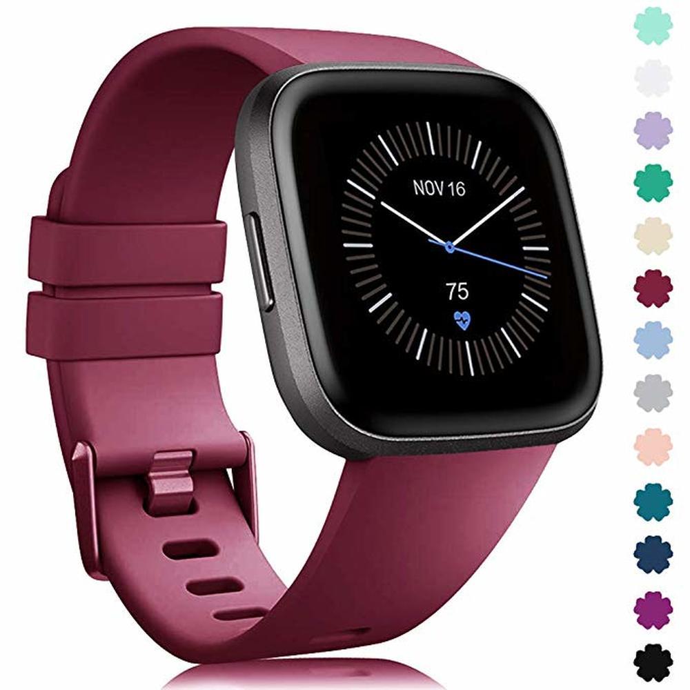 Banda de silicone macio para original fitbit versa 2 relógio inteligente pulseira esportiva para fitbit versa lite pulseira de pulso à prova dwaterproof água Acessórios inteligentes    -