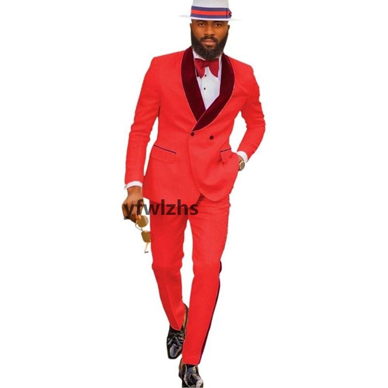 New Arrival Embossing Groomsmen Shawl Lapel Groom Tuxedos Men Suits Wedding/Prom Best Blazer ( Jacket+Pants+Tie) D15