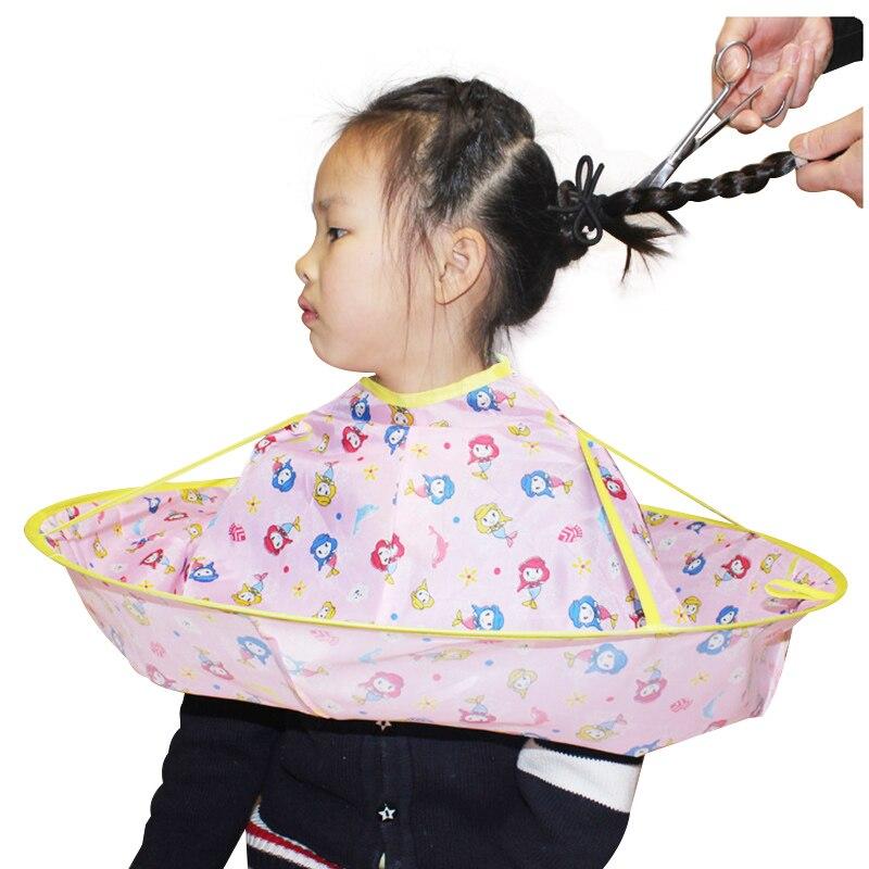 12 Colors Adult Kids Haircut Wrap Child DIY Hair Cutting Cloak Umbrella Cape Barber Home Hairdressing Cape Cover Cloth Folding
