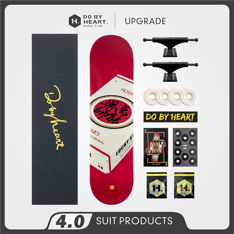 Skateboard Beginner Youth Adult and Children Boys and Girls Street Brush Twin Tips Professional Skateboard Universal