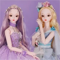 dbs doll 13 bjd princess dress 62cm ball jointed dolls full set french style costume makeup bjd dolls for girls sd msd