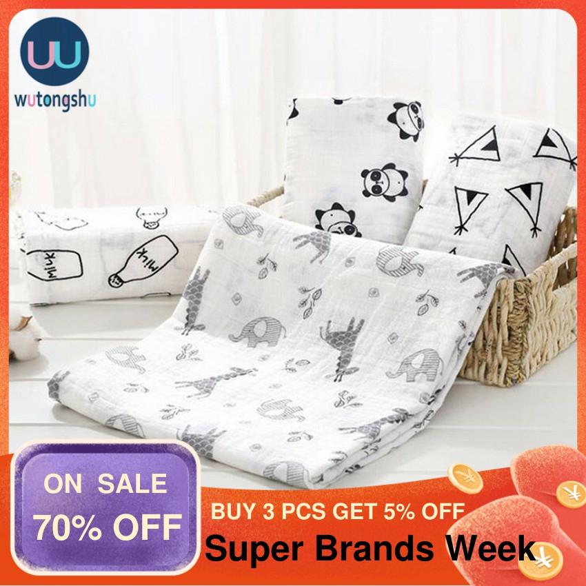 Muslin Swaddles Baby Blankets Photography Accessories Bedding For Newborn Swaddle Towel Swaddles Blankets Breastfeeding Cover
