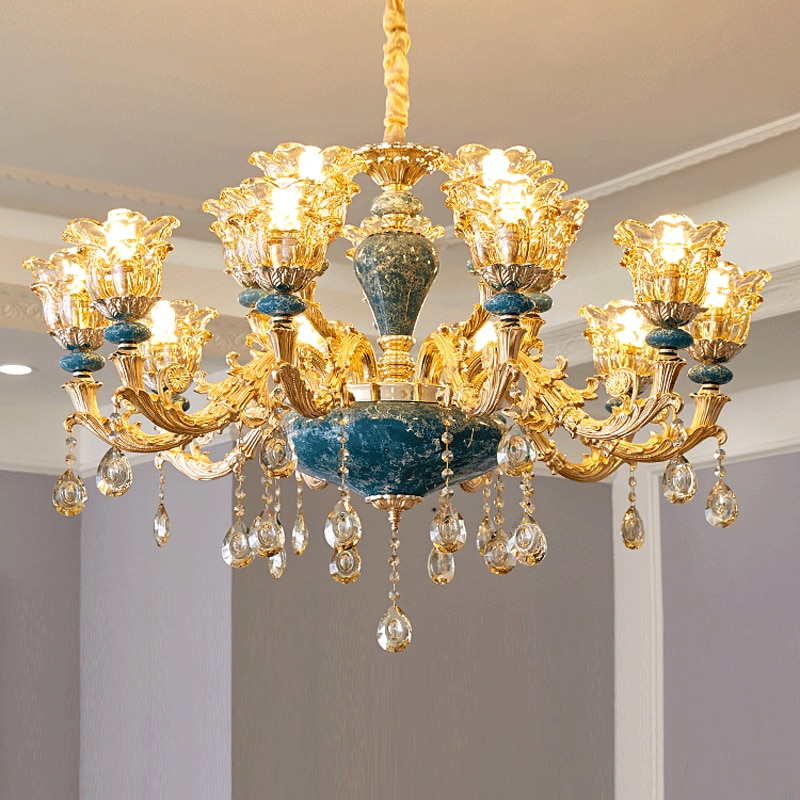 Modern Crystal Chandeliers Home Lighting Decoration Luxury Candle Chandelier Pendants Living Room Indoor Lamp Lustres De Cristal