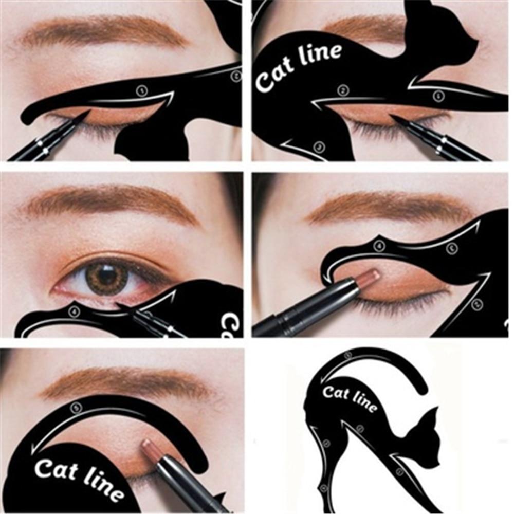 Eye Makeup Eyeliner Template Cat Line Eye  Eyeliner Stencils Makeup Tools Kits Cat Line Shaping Tools 2