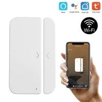 Smart Appliace WiFi Door Window Sensor Detector Door Open Closed Detectors APP Control To Voice Control Household