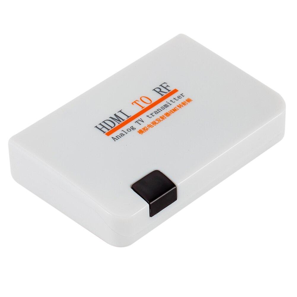 Ue/eua hdmi para rf coaxial conversor adaptador hdmi sinal digital para rf sinal analógico para blu-ray jogador jogo console conjunto-caixa superior