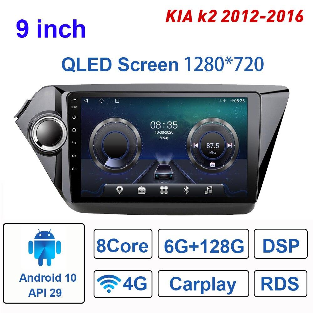 Автомагнитола TS10 для KIA K2 2012-2016, мультимедийный видеоплеер на Android 10, 9 дюймов, GPS, Wi-Fi, Bluetooth, 2 Din
