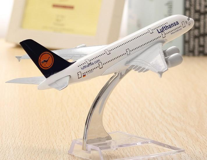 A380 Lufthansa avión modelo 16cm avión Diecast modelo colección decoración regalo juguetes...
