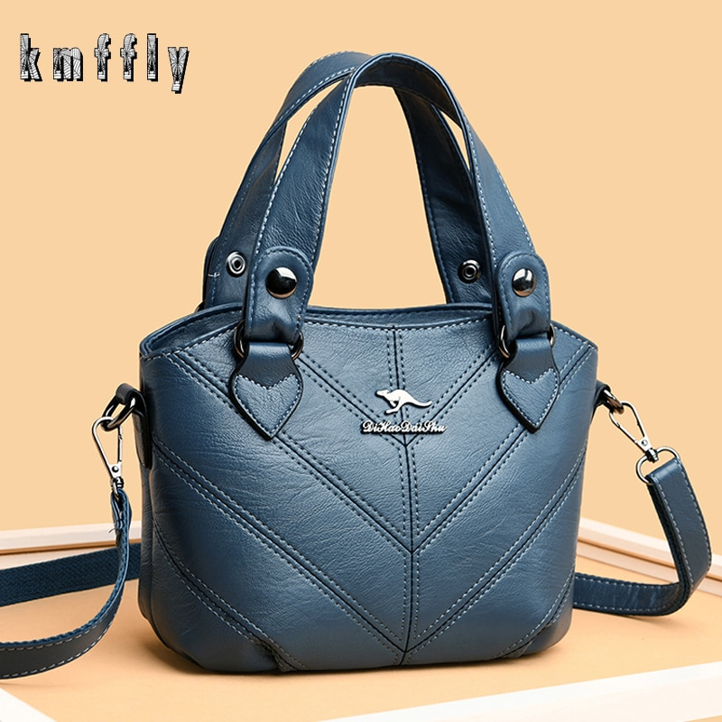 Hot Thread Soft Leather Bolsa Luxury Ladies Hand Bags Female Crossbody Bags for Women Shoulder Messenger Bags Sac A Main Femme