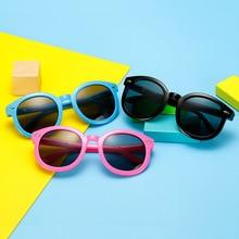 2021 New Round Kids Sunglasses Brand Designer Children Sun Glasses Boys Girls UV400 Mirror Protectio