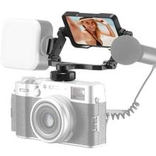 Ulanzi PT-14 Vlog miroir à écran rabattable pour Sony A7R3 A7III A7II A6000 A6300 A6500 Nikon Z7 avec Double miroir de caméra à chaussures froides