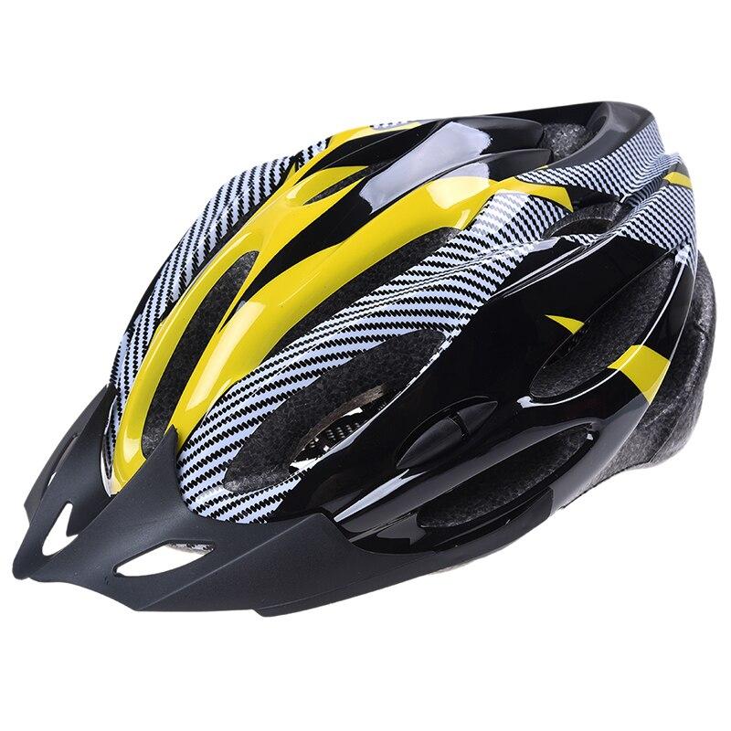 Casco ajustable para ciclismo, protección amarilla