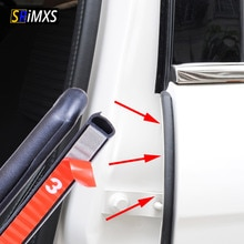 уплотнитель дверей автомобиля для авто резиновая Нержавеющаясталь прокладка наполнитель для B столб двери автомобиля защита Герметик полосы