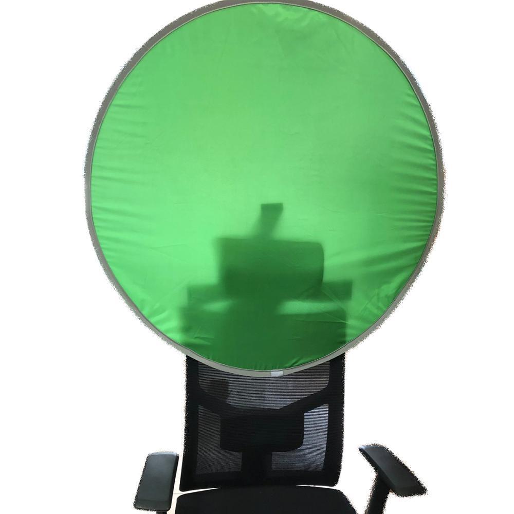 90cm Reflector de fotografía portátil Chromakey telón de fondo de pantalla verde fondos para YouTube Video Studio