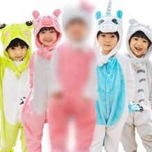 pig Milk Cow overall Baby Rompers Hoodied  boys girls kids Cartoon Animals unicorn kigurumi pajama  Onesies кингуруми единорог