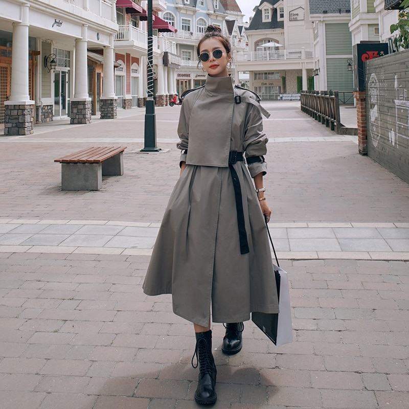 Windbreaker Female British High-End Atmosphere Superior Quality 2021 Spring Autumn Loose Casual Over