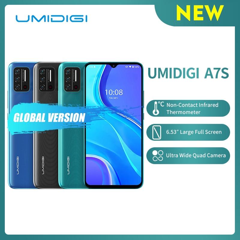 Перейти на Алиэкспресс и купить UMIDIGI A7S 6,53 дюйм20:9 доя больших полных Экран 32 Гб 4150 мАч тройной Камера мобильного телефона инфракрасный Температура Сенсор Тип C смартфон