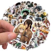 50 Teile/los Japanischen Anime Angriff auf titan Mikasa Levi Eren Aufkleber Für Auto Telefon Gepäck Laptop Fahrrad Aufkleber Aufkleber
