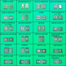 SOT89/SOT223 SOT23/MSOP10 DFN10 SOP14/SSOP14 16 20 32 QFP32 QFN20 pour DIP carte de transfert de carte de circuit imprimé