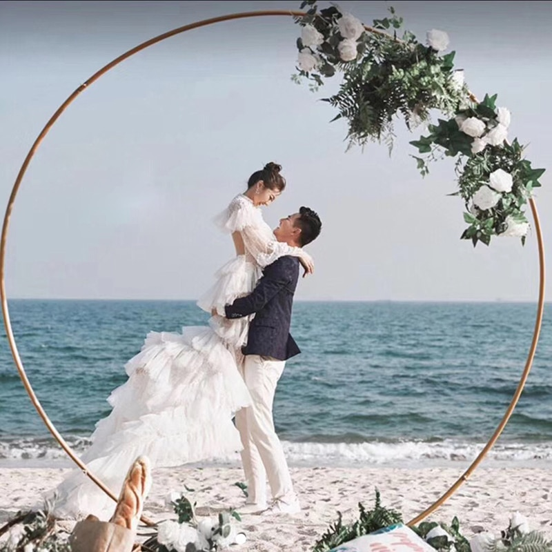 Cicle Wedding arch decor backdrop stand flower arch geometric home party backdrop arch stand decoration circle backdrop stand