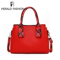 fashion women handbags print pu leather totes bag top handle embroidery crossbody bag shoulder bag lady simple style hand bags