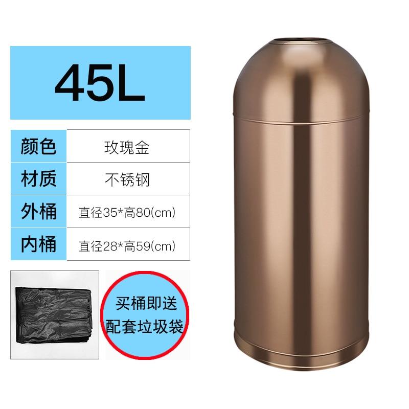 Modern Trash Can 304 Stainless Steel Creative Food Waste Trash Bin Bedroom Trash Compactor Bin Kosz Na Smieci Cleaning Tools enlarge