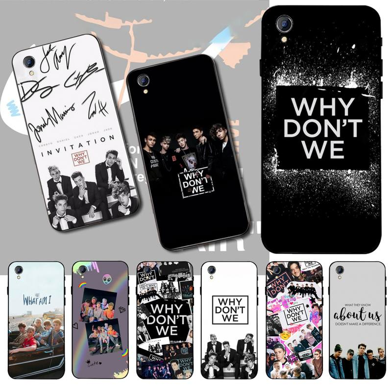 HPCHCJHM Why Dont Do Not We WDW Cover Black Soft Shell Phone Case For Vivo Y91c Y17 Y51 Y67 Y55 Y93 Y81S Y19 Y7S Case