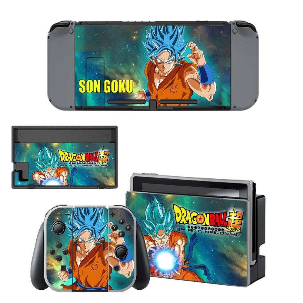 Conmutador Nintendo Piel de Goku de Dragon Ball Z Nintend interruptor adhesivo pegatinas para la consola Nintendo Switch Joy-con base con tomas de control pieles