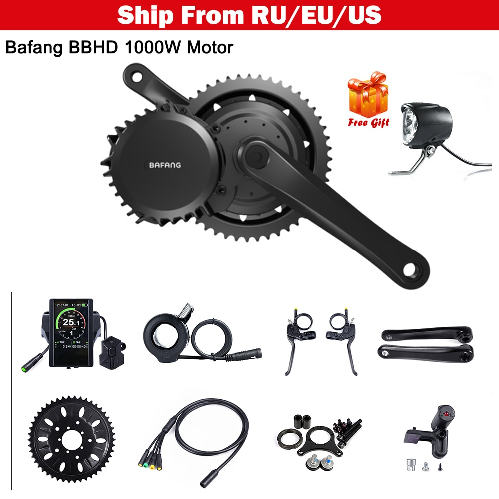 Bafang 48V 52V Universal 1000W e-bike 68-73mm Motor Mid Drive e-bike DIY Kits de conversión potente 8FUN Motor partes 8FUN BBS03B